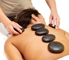 Hot stone spa massage